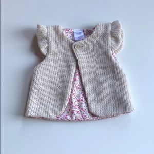 Leighton Alexander | Cream Knit Vest | M (2-5)